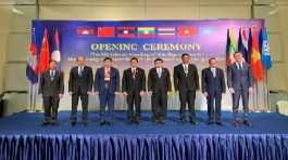 Ministers from countries of the Mekong Memorandum of Understanding (MOU) on Drug Control, and a UNODC representative