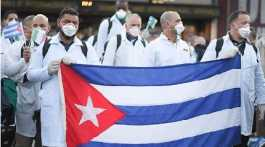 Cuban doctors return from Italy