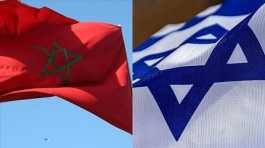 Morocco, Israel flags